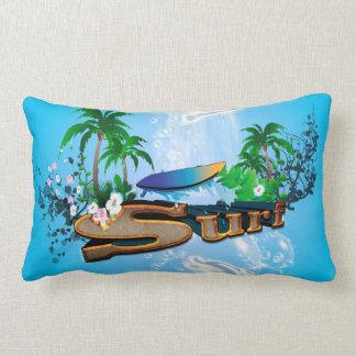 Tropisk design med surfingbrädan lumbarkudde