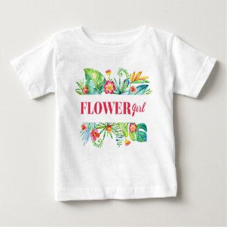 Tropisk destination Weddin för brudtärnavattenfärg T Shirt