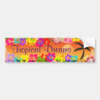 tropisk drömbildekal bildekal