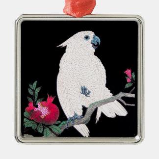 Tropisk fågel för kall japansk vitkakaduapapegoja julgransprydnad metall