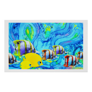 Tropisk fisk affischer