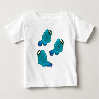 Tropisk fisk för blått tshirts