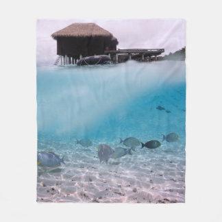 Tropisk fisk för korall för äventyr för Maldiverna Fleecefilt