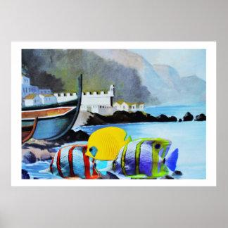 Tropisk fisk i Madeira Poster