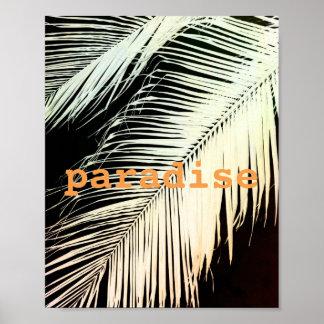tropisk handflatanaffisch med sepia för poster