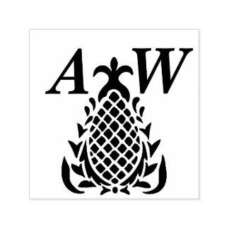 Tropisk hawaiibo Mongram för initialt personligt Självfärgande Stämpel