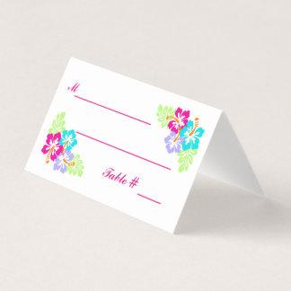 Tropisk hibiskus - eskortkort placeringskort