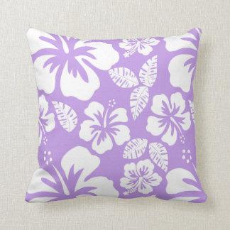 Tropisk hibiskus för ljus lavendel kudde