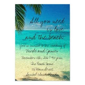 Tropisk inbjudan för Florida strandbröllop