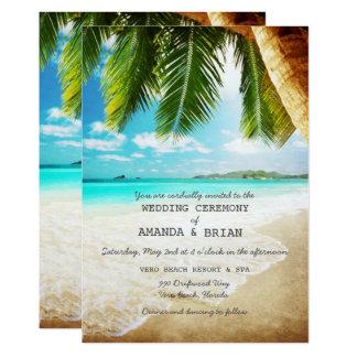 Tropisk inbjudan för östrandbröllop