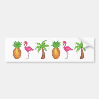 Tropisk klistermärke för ananasFlamingopalmträd
