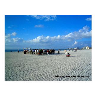 Tropisk Marco ö Florida - ett strandbröllop Vykort