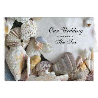 Tropisk melodi vikt snäckskalbröllopinbjudan hälsningskort