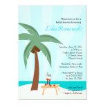 Tropisk möhippainbjudan för palmträd 5x7 12,7 x 17,8 cm inbjudningskort