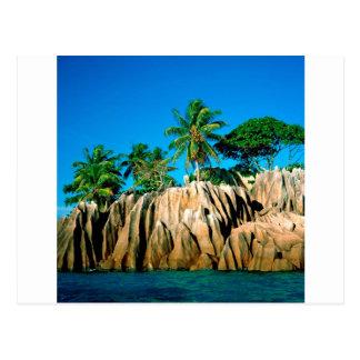 Tropisk ö fann Seychellerna Vykort