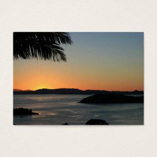 Tropisk ösolnedgång - presentkort visitkort