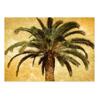 Tropisk palmträd för vintage visitkort mall