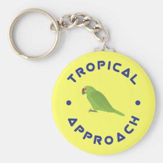 Tropisk papegoja Keychain Rund Nyckelring