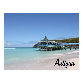 Tropisk paradispir på Antigua Vykort