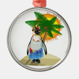 Tropisk pingvin julgransprydnad metall
