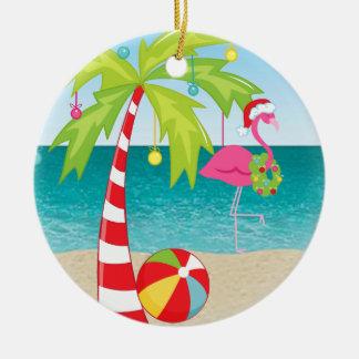 Tropisk prydnad för jul för julgransprydnad keramik
