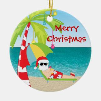 Tropisk prydnad för jul för strandSanta palmträd Julgransprydnad Keramik