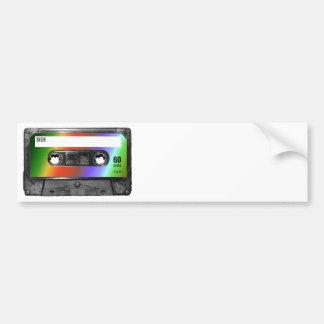 Tropisk regnbågeetikettkassett bildekal