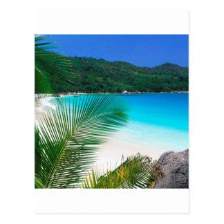 Tropisk reträtt Seychellerna för strand Vykort