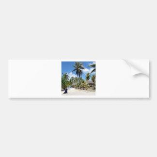 Tropisk sängfrukost för strand bildekal