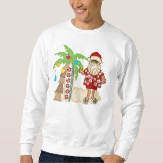 Tropisk Santa tröja med palmträdet