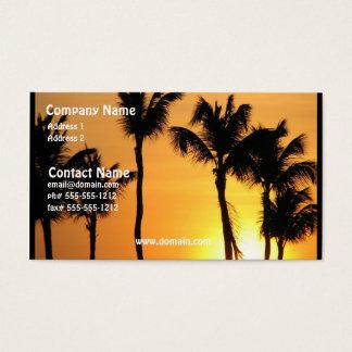 Tropisk solnedgångvisitkort visitkort