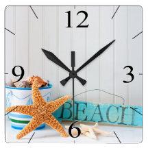 Tropisk sommar för sjöstjärnastrand klockor