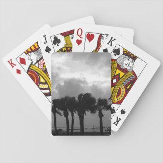 Tropisk stormig himmelgråton spel kort