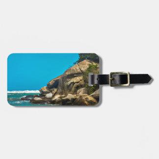 Tropisk strand av den Tayrona nationalparken Luggage Tags
