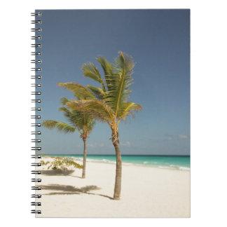 Tropisk strand för Dominikanska republiken Anteckningsbok Med Spiral