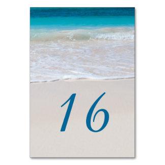 Tropisk strand som gifta sig bordsnummerkort