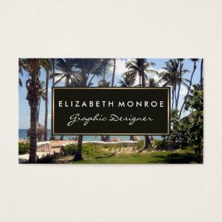 Tropisk strand visitkort
