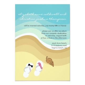Tropisk strandbröllopinbjudan 12,7 x 17,8 cm inbjudningskort