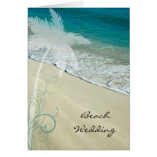 Tropisk strandbröllopinbjudan hälsningskort