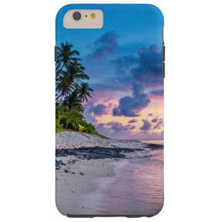 Tropisk strandromantikersoluppgång tough iPhone 6 plus fodral