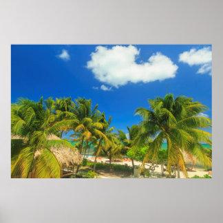 Tropisk strandsemesterort, Belize Poster
