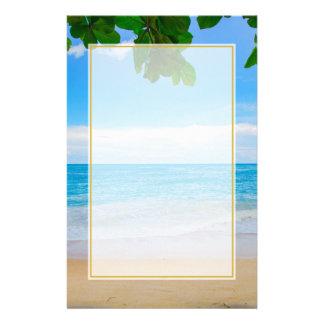 Tropisk strandsolSand och hav Brevpapper