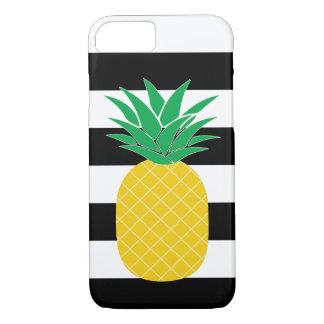 Tropisk svartvit randig ananas