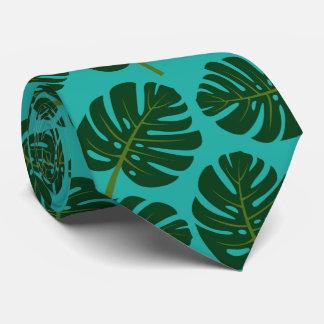Tropisk tie för nacke för blom- tryck för Monstera Slips