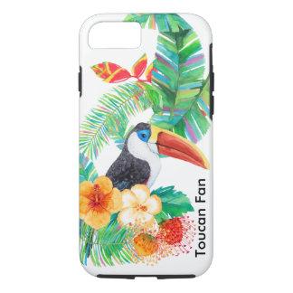 Tropisk Toucan fläktvattenfärg