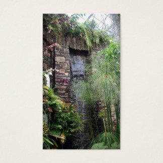 Tropisk vattenfall visitkort