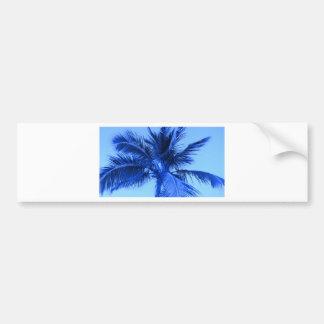 Tropiska blått bildekal