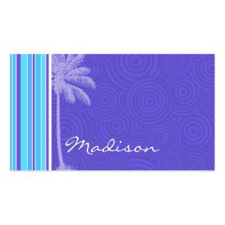 Tropiska blått- & lilarandar; Randigt Visitkort