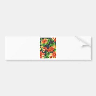 Tropiska blommor för sommar bildekal