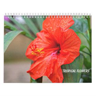 Tropiska blommor kalender
